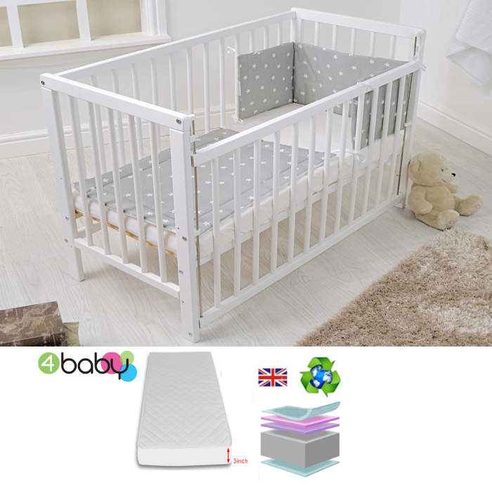 4baby Deluxe Space Saver Cot 4 bundle