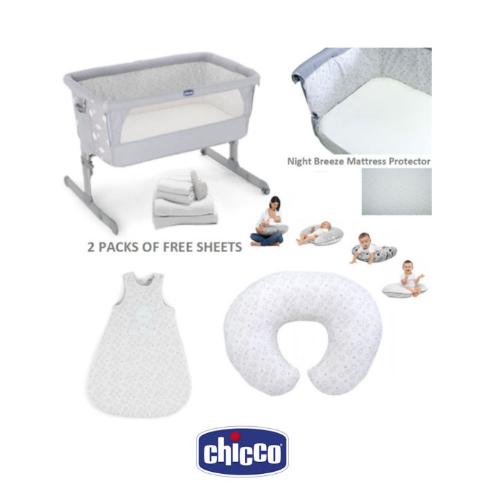 Chicco Next 2 Me Deluxe 6 Piece Offer Bundle 17 - Newborn Starter Set Circles