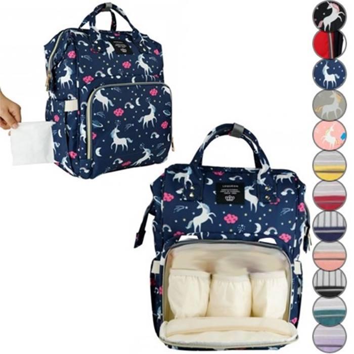 Multifunctional Baby Diaper Bag - 12 Options