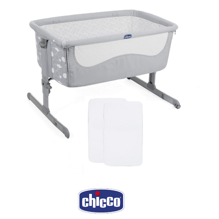 Chicco Next 2 Me Crib Special Edition With x2 Fitted Sheets