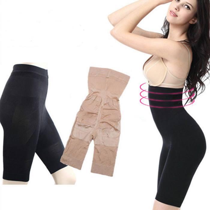 Nude or Black High Waisted Tummy-Tuck Shapewear - 5 Sizes