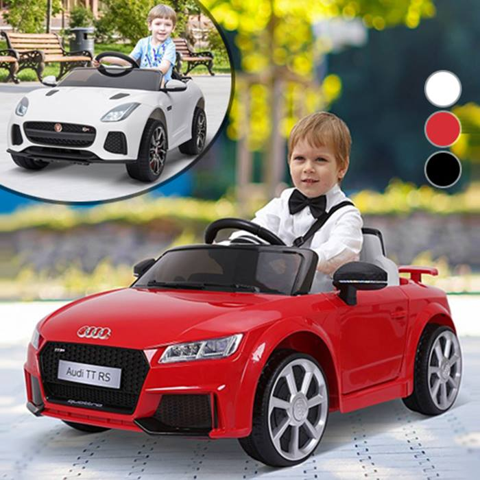 6V Rechargeable Ride-On Licensed Jaguar F-Type Car With Remote - 2 Colours