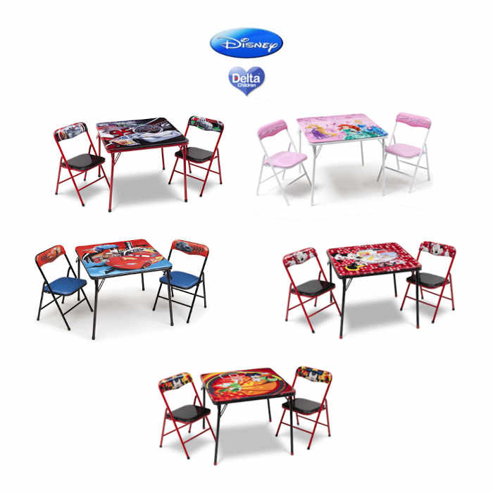 Delta Children Folding Table  Chairs Set  Disney