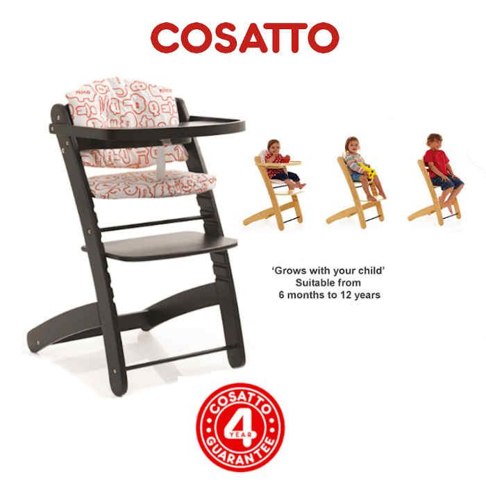 Cosatto 3 in 1 Pretzel Highchair - Word Zoo Cocoa