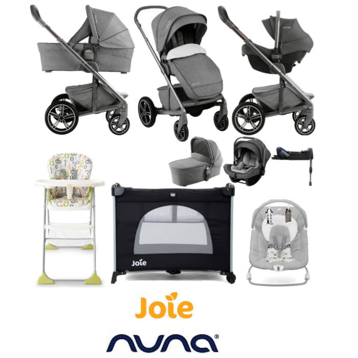 Nuna Mixx (Pipa Lite LX) Limited Edition Everything You Need Travel System Bundle - Threaded Grey