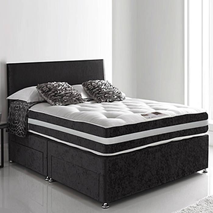 Black divan bed