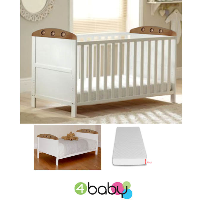 4Baby_Playball_Cot_Bed_With_Fibre_Mattress_White_Beech
