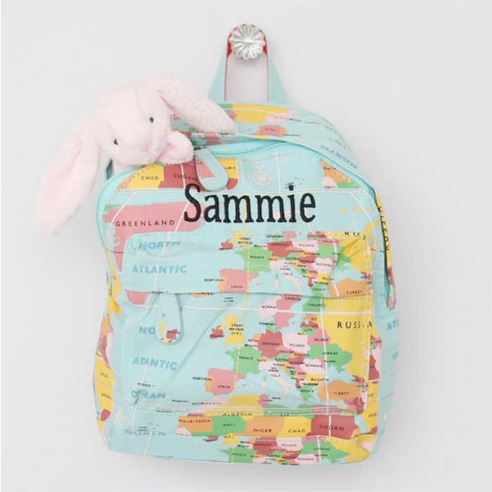 Personalised-world-map-rucksack