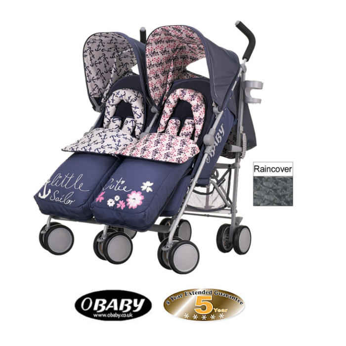 Obaby Leto Plus Twin Stroller - Little Cutie  Sailor