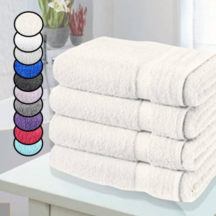 4 x Jumbo Egyptian Cotton Bath Sheets - 14 Colours