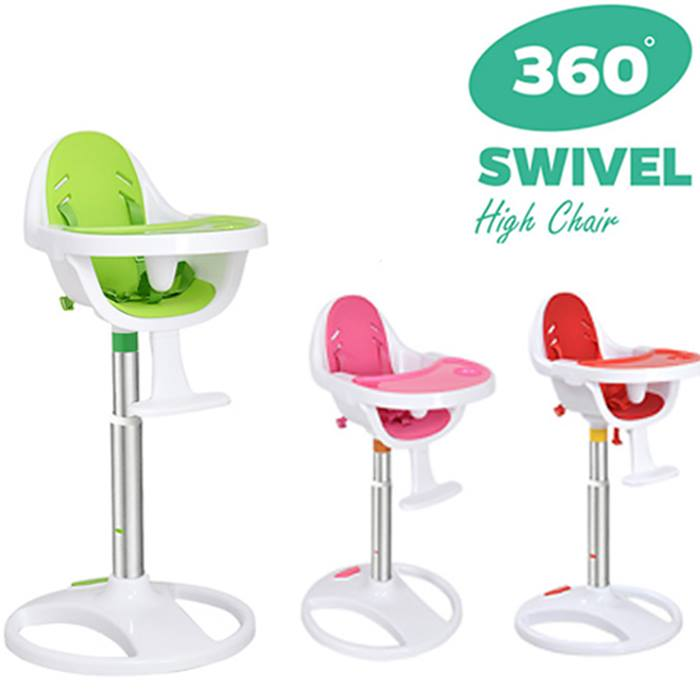 360 Swivel Baby High Chair - 3 Colours
