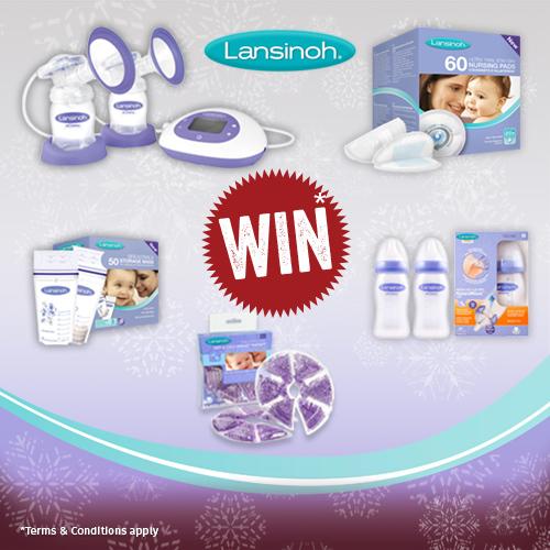 Win Lansinoh breastfeeding kit