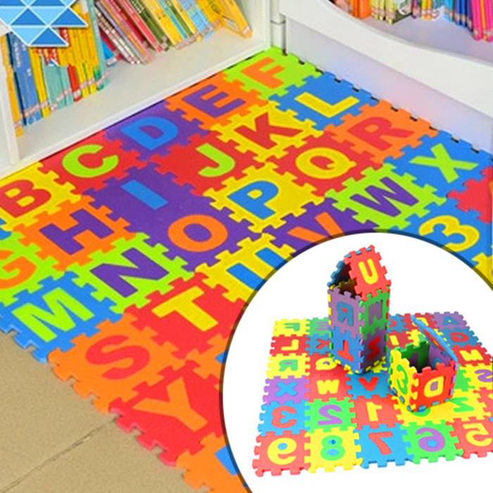 36-Piece Foam Alphabet Mat