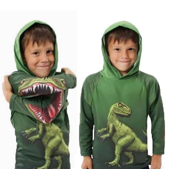 Kids' Dinosaur Print Hoodie - 5 Sizes
