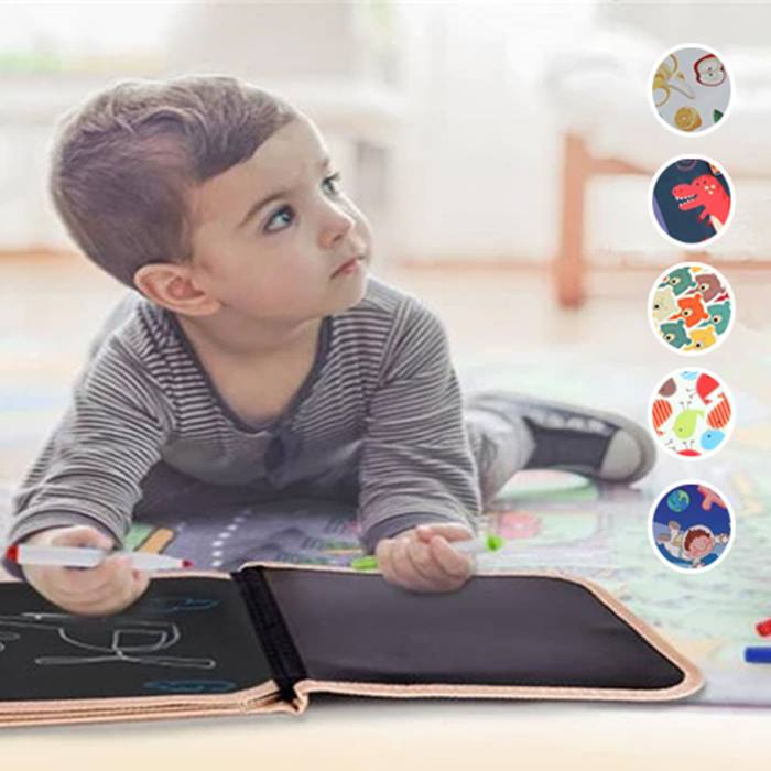 Kids' Portable Soft Blackboard Drawing Book - 5 Designs