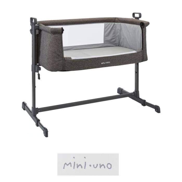 Mini Uno Sleeptite Co Sleeping Next2Me Bedside Crib - Grey Melange