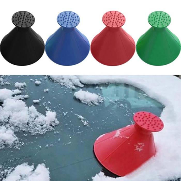 1 or 2 Magic Cone Car Windshield Ice Scrapers - 4 Colours