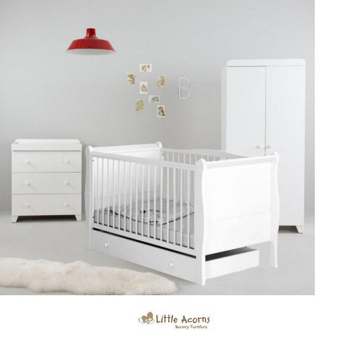 Little Acorns 6 Piece Room Set - White