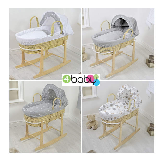 4Baby Palm Moses Basket  Rocking Stand