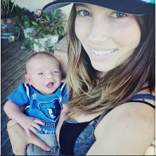 Justin Timberlake and Jessica Biel show off their new baby boy