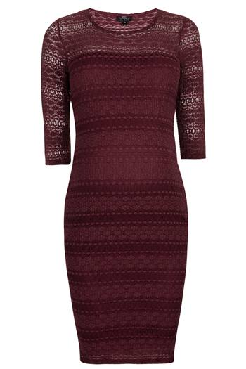 Topshop red maternity dress