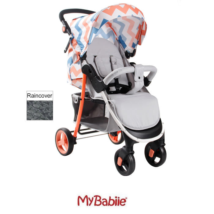 My Babiie MB30 Pushchair Billie Faiers Signature Range - Coral Chevron