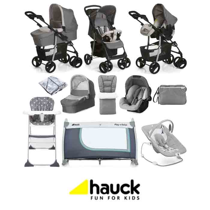 Hauck Shopper SLX Trio Set with Footmuff Changing Bag Raincover Everything You Need Travel System Bundle
