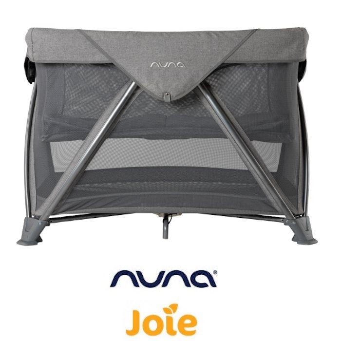 Nuna Sena Bassinet Travel Cot - Threaded Grey