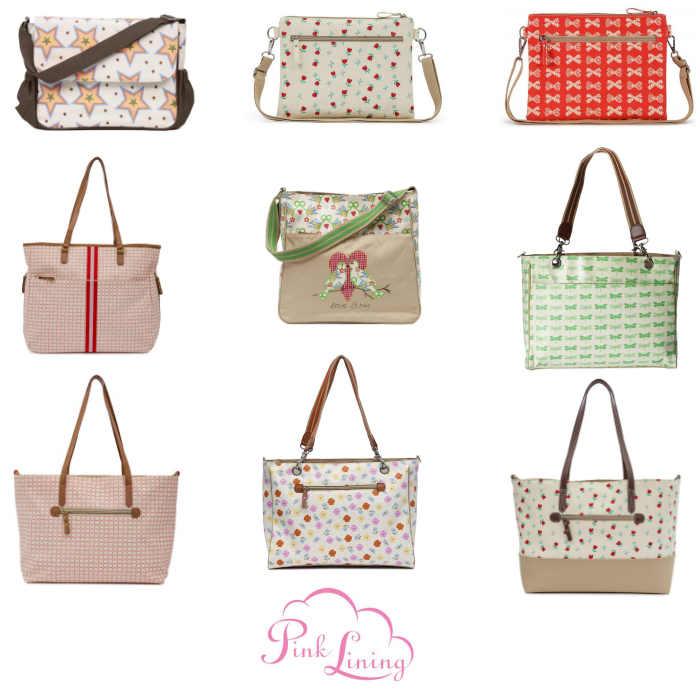 Pink Lining Designer Changing Bag