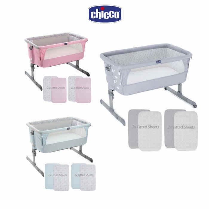 Chicco 4 Piece Next 2 Me Crib Bundle - Copy