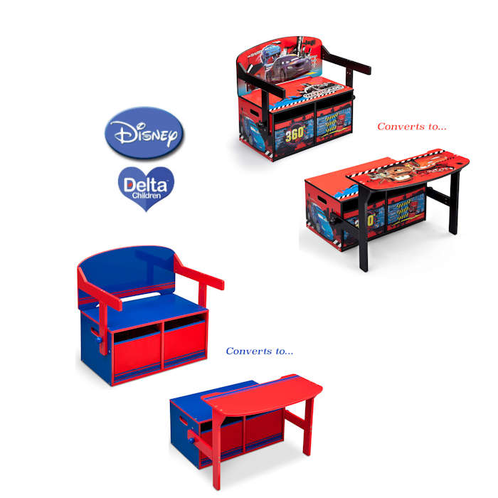 Delta Children 3in1 Convertible Bench  Desk