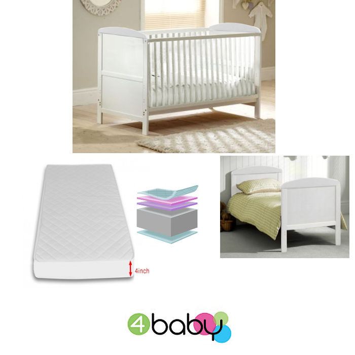 4Baby Classic Deluxe CotBed With Foam Mattress