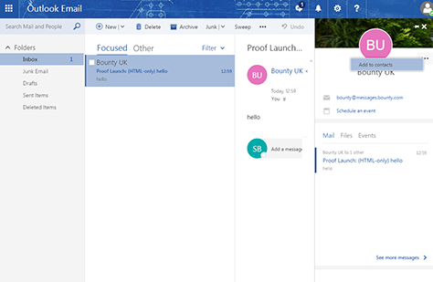 Outlook screen grab