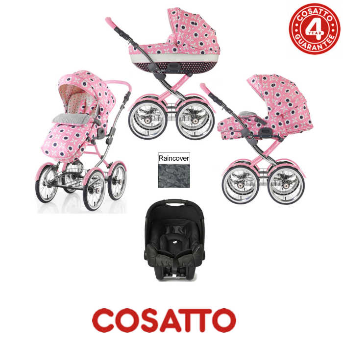 Cosatto Wonder 3 in 1 Travel System With Rain Cover