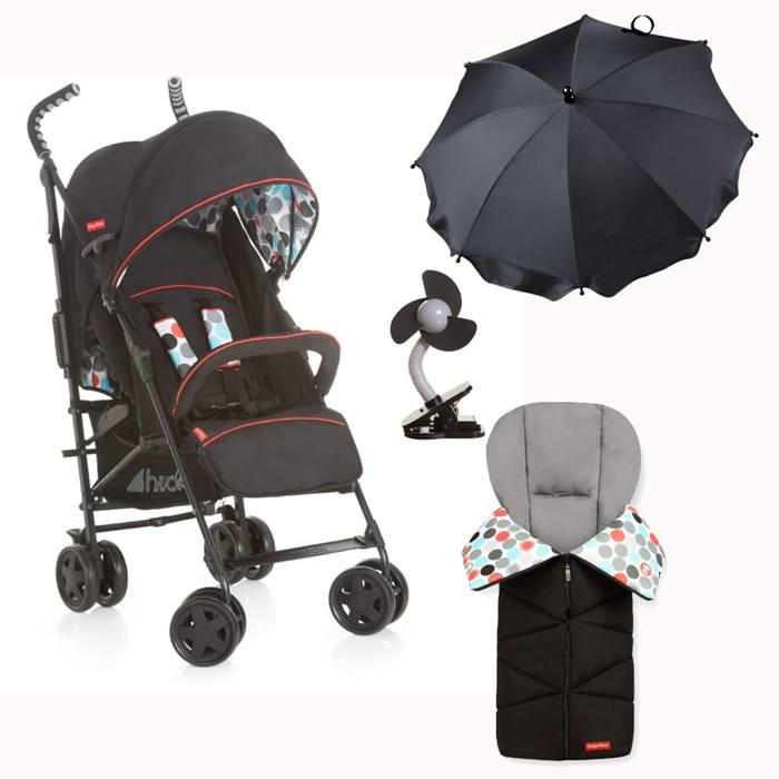 Fisher Price Easy Traveller Palmer + All Season Bundle (Black)