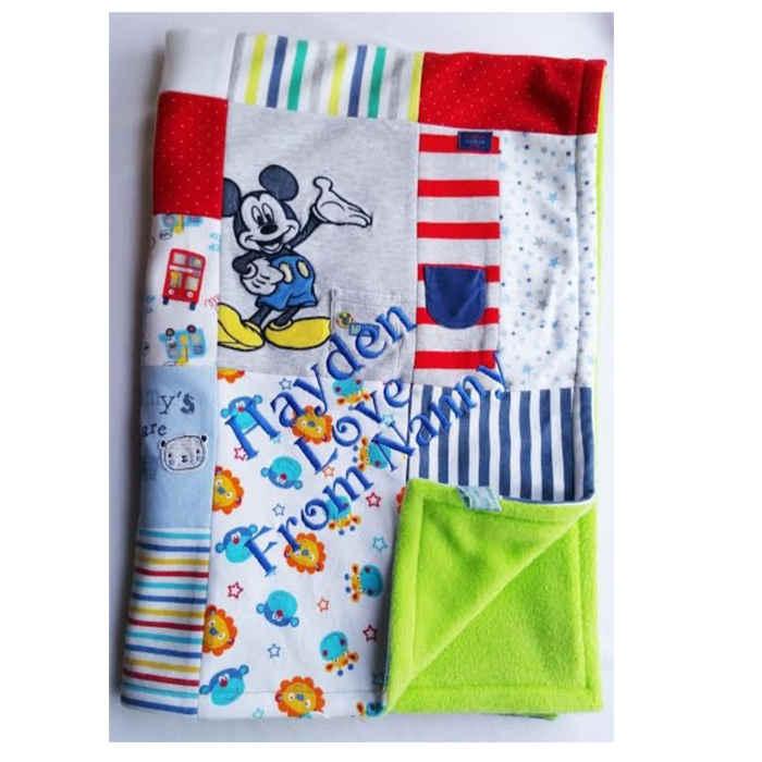 keepsake clothes blanket Mikey