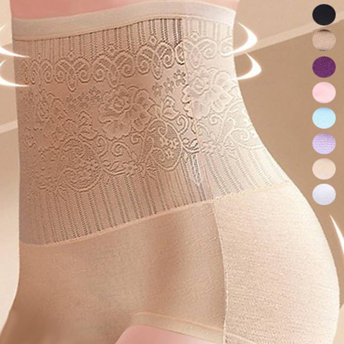 3, 6 or 12-Pack of High-Waisted Control Pants - 8 Colours & 3 Sizes