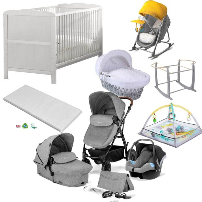 Kinderkraft Moov Cot Bed & Moses Bundle