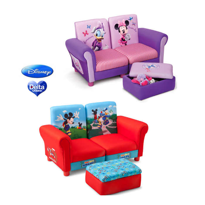 Delta Children 3 Piece Upholstered Chairs - Sofa Set - Disney