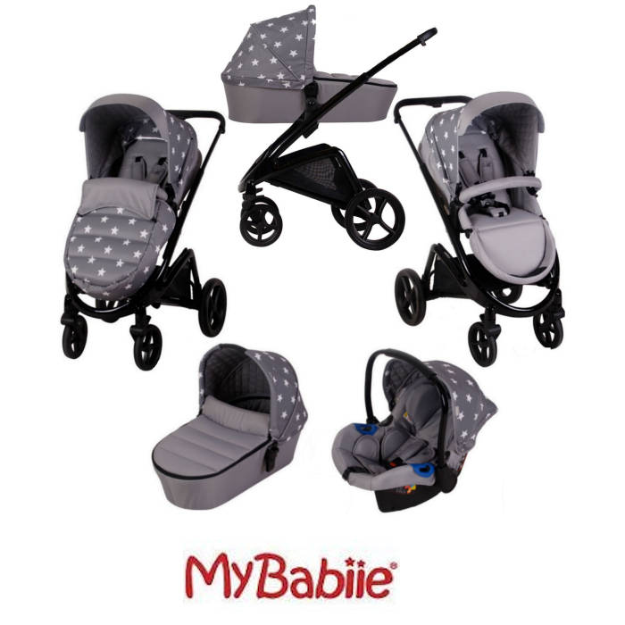 My Babiie MB300 Travel System *Billie Faiers Collection* - Grey Stars