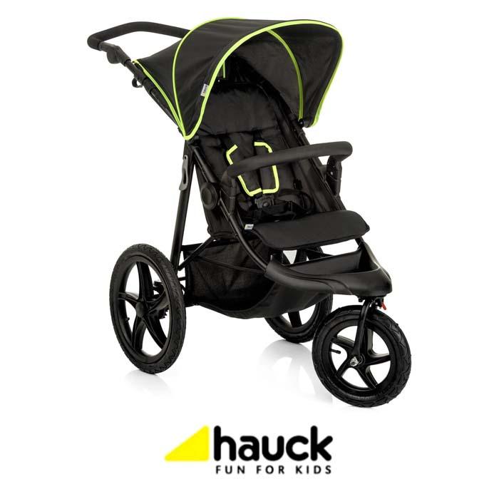Hauck Runner 3 Wheel Pushchair - Black Neon Yellow