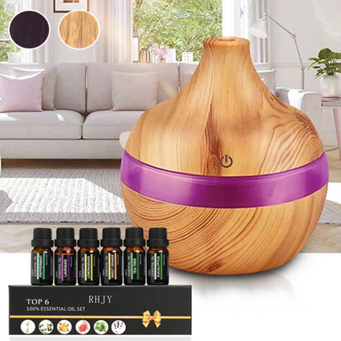 Electric Aroma Humidifier With Essential Oils - 3 Designs & 2 Colours