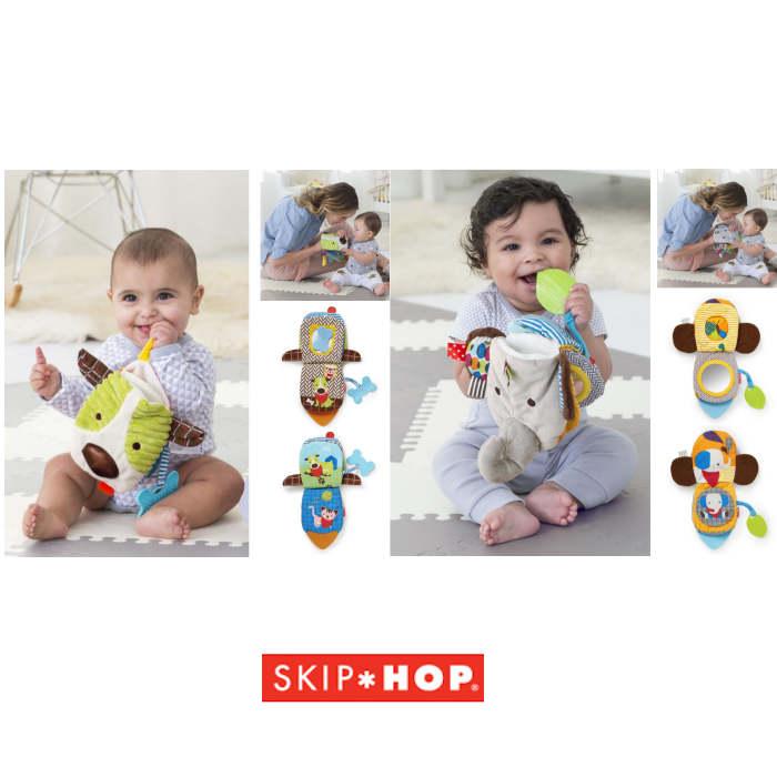 Skip Hop Bandana Buddies 3 in 1 Baby Activity Toy  Puppet Book