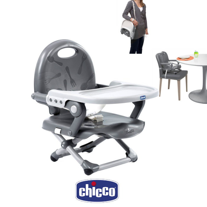 Chicco Pocket Snack Portable Highchair Booster Seat - Dark Grey