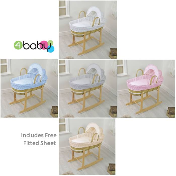 4baby Palm Moses Basket  Stand  dimple