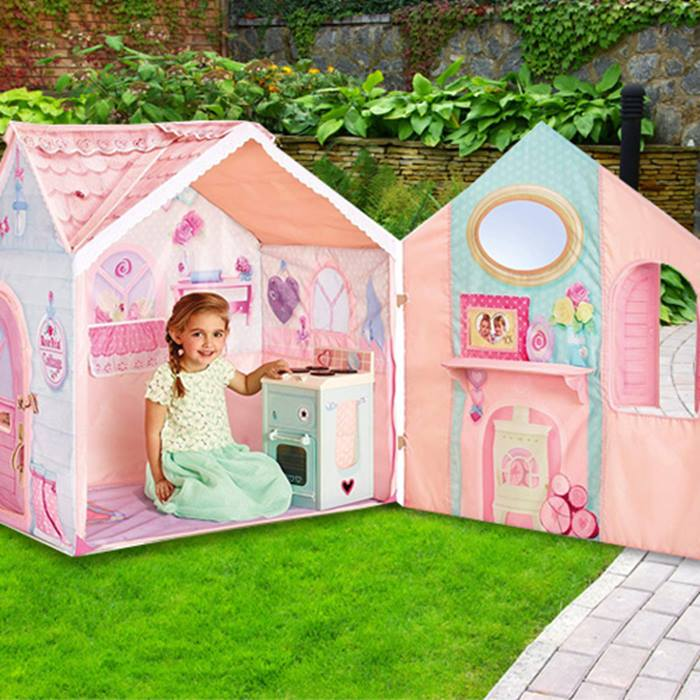 Dream Town Rose Petal Playhouse Tent with Cooker