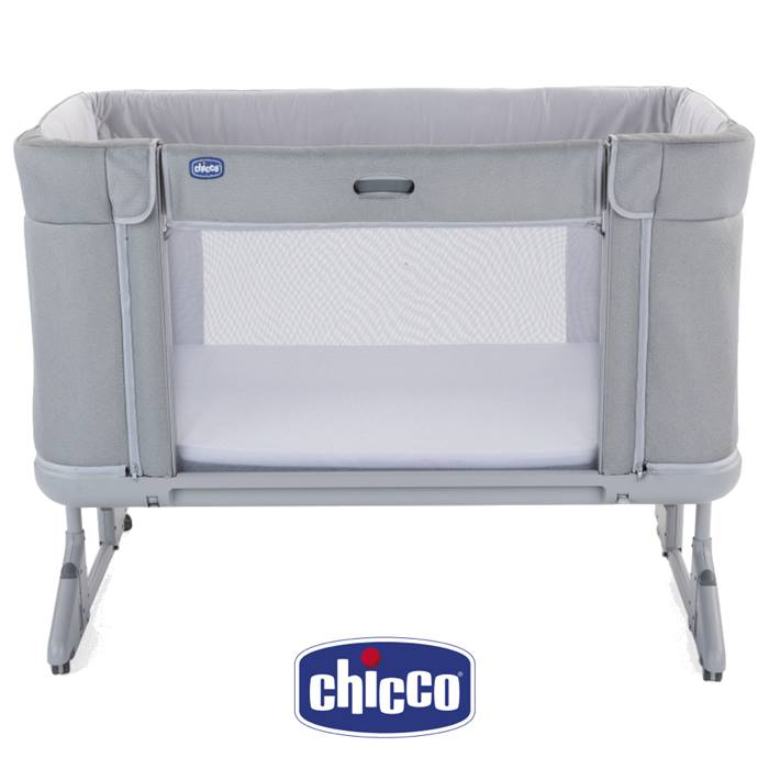 Chicco Next2me Forever Side Sleeping Crib-Cool Grey