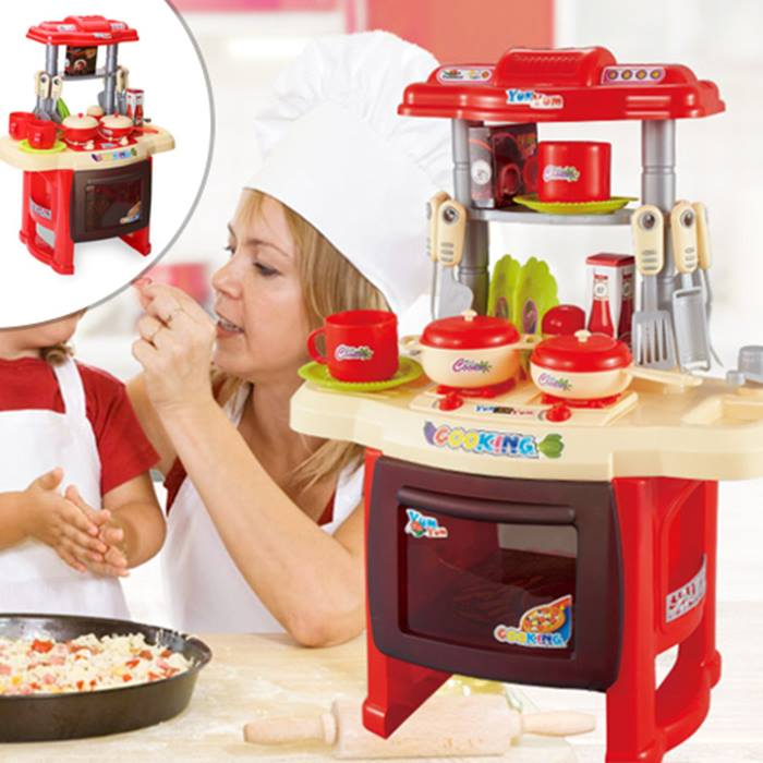 Tiny Chef Toy Kitchen Set - With 24 Pieces!