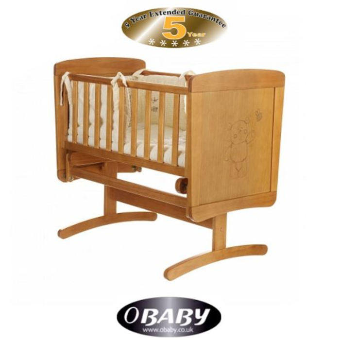 Obaby B Is For Bear Gliding Crib  Foam Mattres  Country Pine