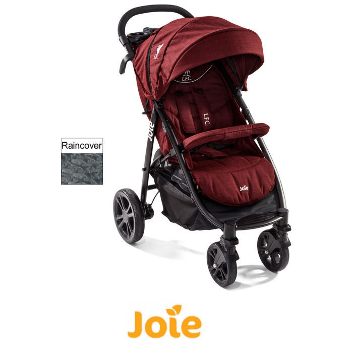 Joie Litetrax Flex Liverpool Football Club (LFC) 4 Wheel Pushchair / Stroller - Red Liverbird